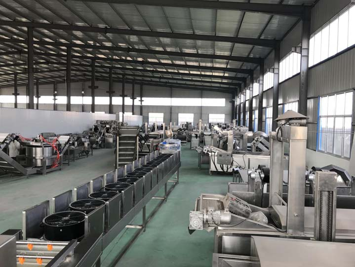 Taizy frying machine factory