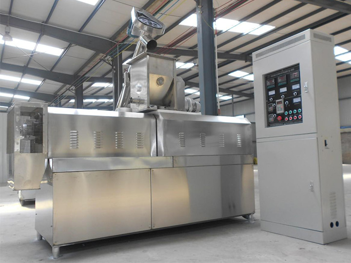 complete puffed food machine in factory