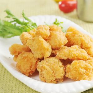 deep-fried popcorn chicken made by popcorn chicken machine