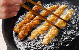 food frying with hot oil