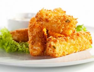 fried cheese made by frying machine