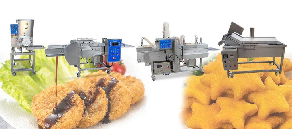 semi-automatic fried patty production line