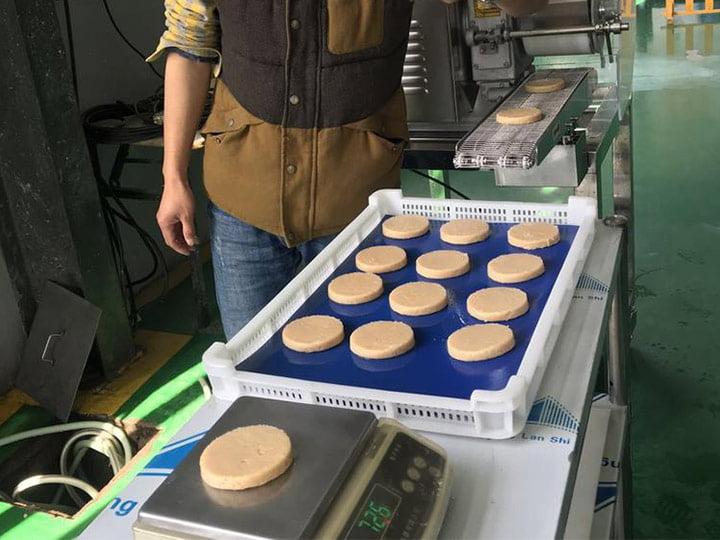 hamburger patty processing