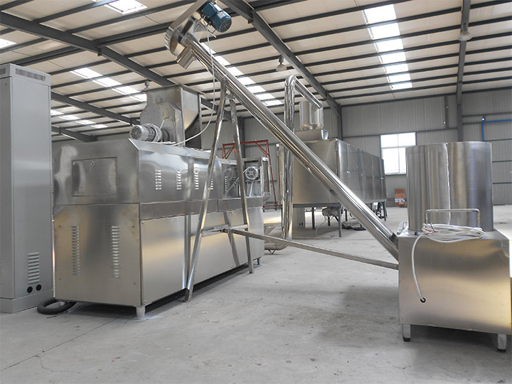 puff snack food making machines plant