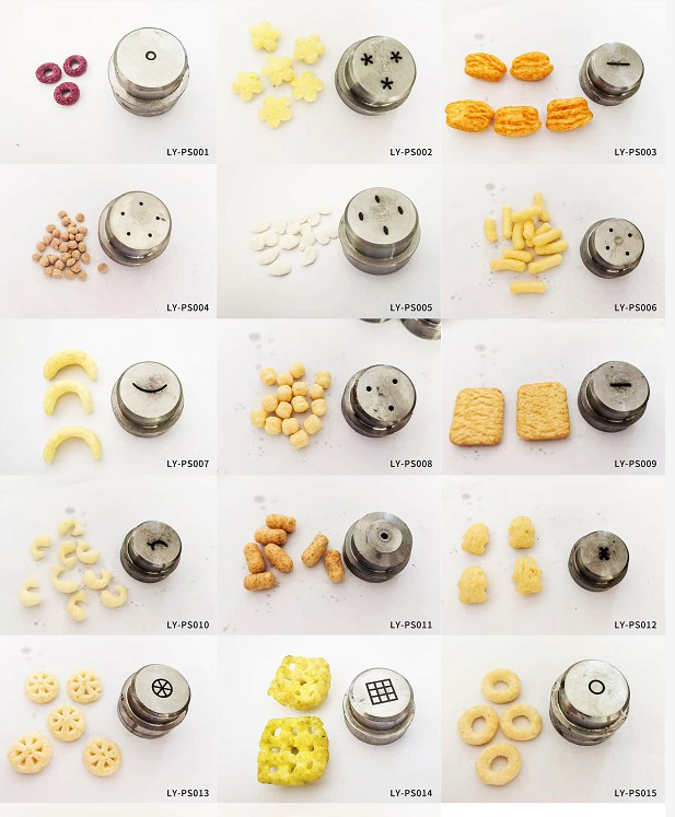 puffed food extrusion molds