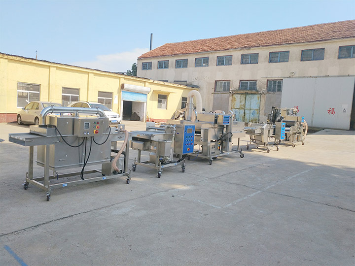 batter machine in fried food processing line