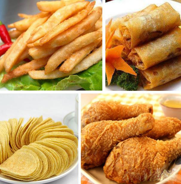 fried food made by food deep fryer