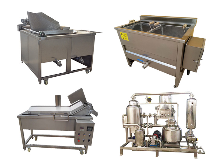 various frying machines of Taizy