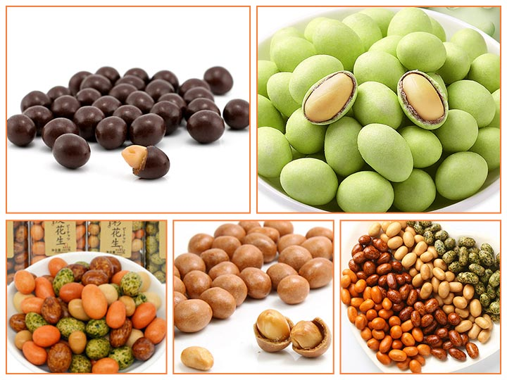 all kinds of coated peanuts crackers