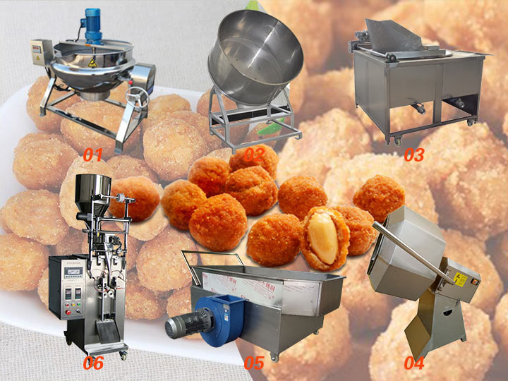 crunchy coated peanut production line