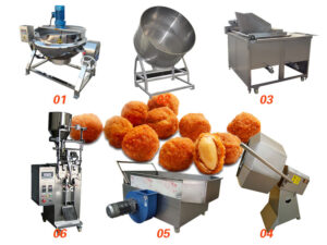 fried spicy coated peanut production line