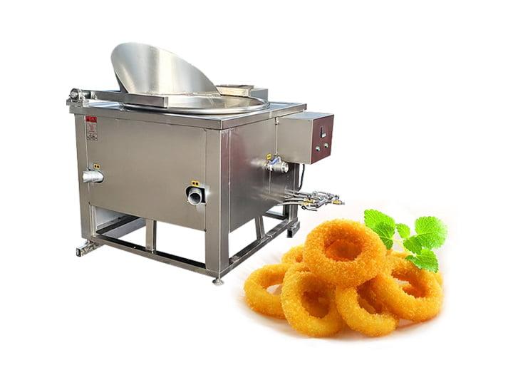 onion rings frying machine