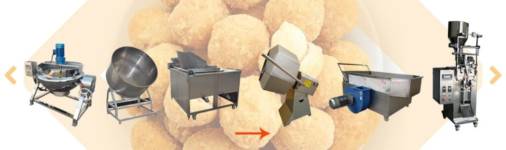 production process of crunchy coated peanuts processing plant