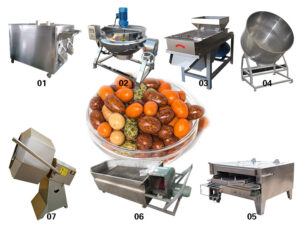 sugar-coated peanut processing line
