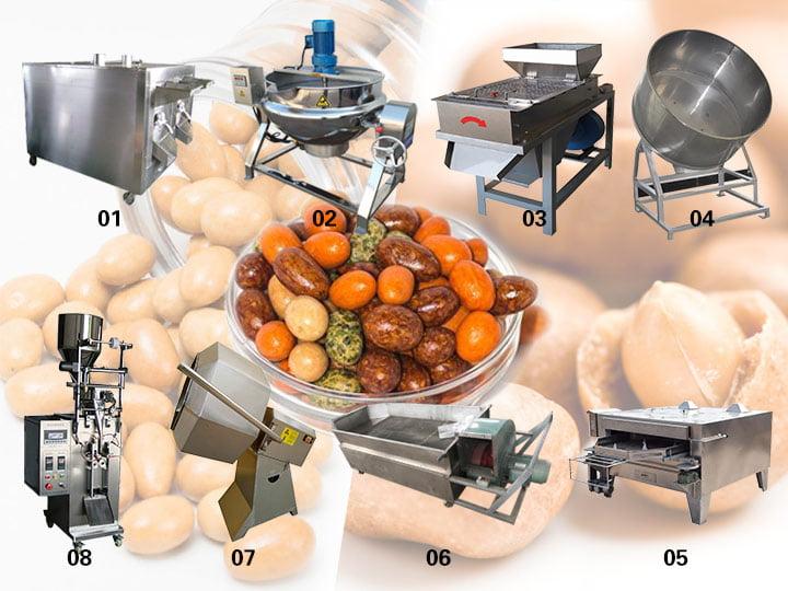 sugar-coated peanut production line