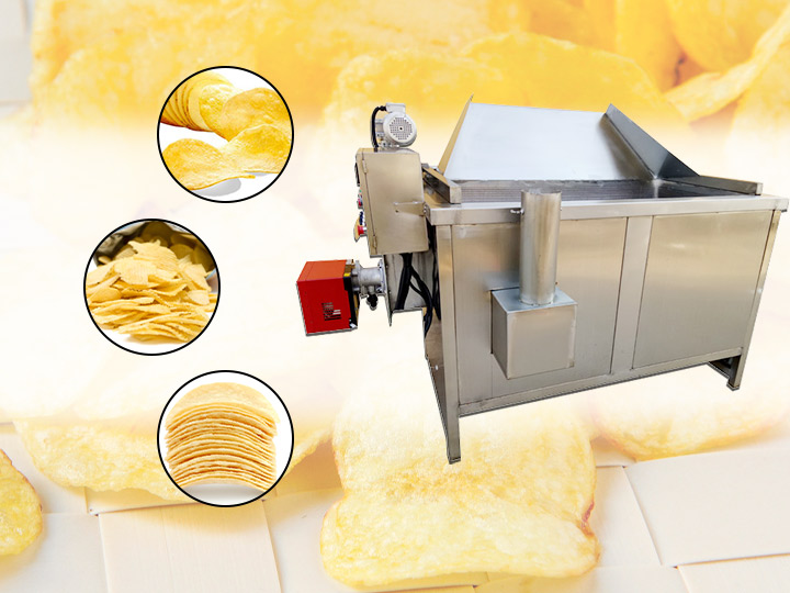 commercial potato chip frying machine