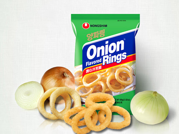 commercial production of crispy onion rings