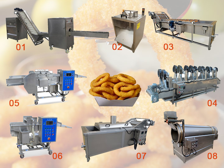 crispy onion ring production line for sale
