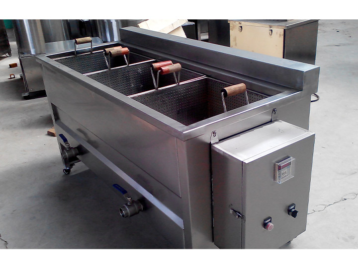 frame type batch fryer for potato chips