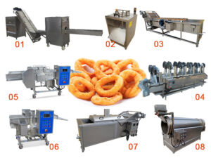 fried crispy onion rings production line plant