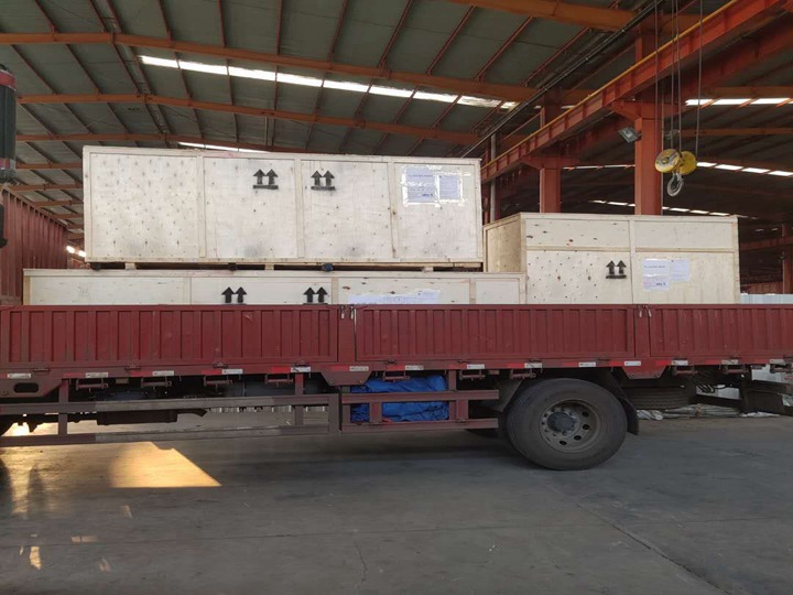 chin chin snack production line for shipping to Ghana