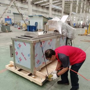 gas-heated fryer machine packaging and shipping for US